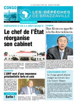 Les Dépêches de Brazzaville : Édition brazzaville du 06 septembre 2016