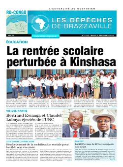 Les Dépêches de Brazzaville : Édition kinshasa du 06 septembre 2016