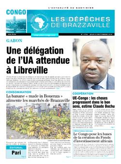 Les Dépêches de Brazzaville : Édition brazzaville du 08 septembre 2016