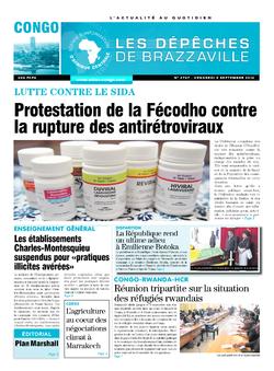 Les Dépêches de Brazzaville : Édition brazzaville du 09 septembre 2016