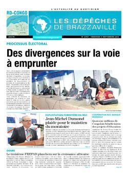 Les Dépêches de Brazzaville : Édition kinshasa du 09 septembre 2016