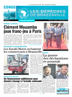 Les Dépêches de Brazzaville : Édition brazzaville du 12 septembre 2016