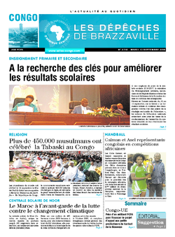 Les Dépêches de Brazzaville : Édition brazzaville du 13 septembre 2016
