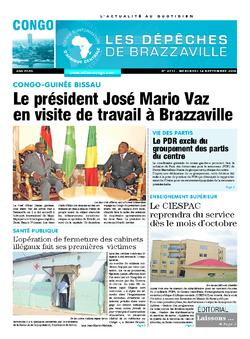 Les Dépêches de Brazzaville : Édition brazzaville du 14 septembre 2016