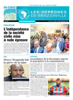 Les Dépêches de Brazzaville : Édition kinshasa du 15 septembre 2016