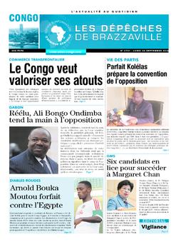 Les Dépêches de Brazzaville : Édition brazzaville du 26 septembre 2016