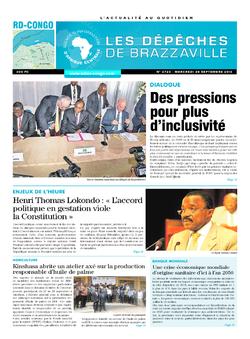 Les Dépêches de Brazzaville : Édition kinshasa du 28 septembre 2016