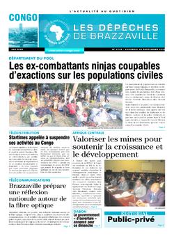 Les Dépêches de Brazzaville : Édition brazzaville du 30 septembre 2016