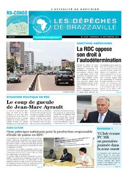 Les Dépêches de Brazzaville : Édition kinshasa du 30 septembre 2016