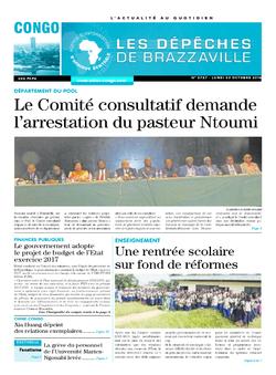 Les Dépêches de Brazzaville : Édition brazzaville du 03 octobre 2016