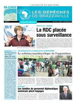 Les Dépêches de Brazzaville : Édition kinshasa du 03 octobre 2016