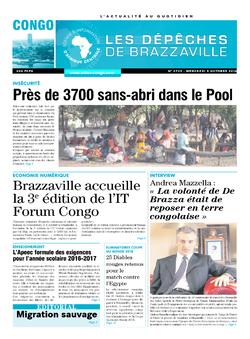Les Dépêches de Brazzaville : Édition brazzaville du 05 octobre 2016