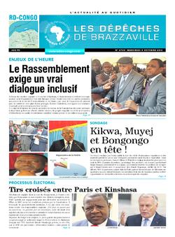 Les Dépêches de Brazzaville : Édition kinshasa du 05 octobre 2016