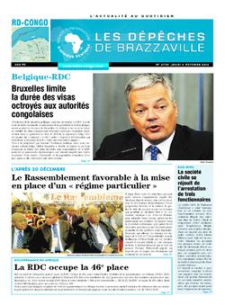 Les Dépêches de Brazzaville : Édition kinshasa du 06 octobre 2016