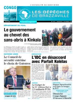 Les Dépêches de Brazzaville : Édition brazzaville du 07 octobre 2016