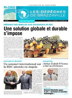 Les Dépêches de Brazzaville : Édition kinshasa du 07 octobre 2016