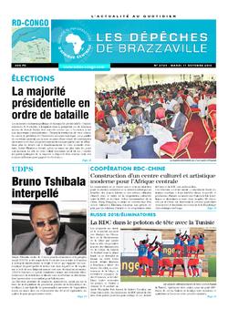 Les Dépêches de Brazzaville : Édition kinshasa du 11 octobre 2016