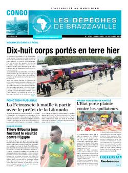 Les Dépêches de Brazzaville : Édition brazzaville du 12 octobre 2016
