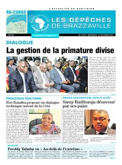 Les Dépêches de Brazzaville : Édition kinshasa du 12 octobre 2016