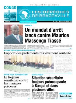 Les Dépêches de Brazzaville : Édition brazzaville du 13 octobre 2016