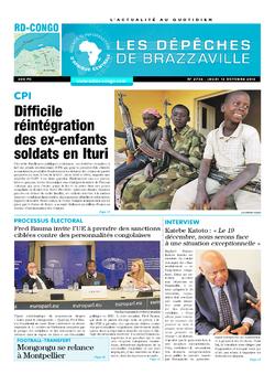 Les Dépêches de Brazzaville : Édition kinshasa du 13 octobre 2016