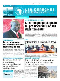 Les Dépêches de Brazzaville : Édition brazzaville du 14 octobre 2016