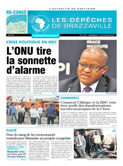 Les Dépêches de Brazzaville : Édition kinshasa du 14 octobre 2016