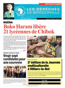 Les Dépêches de Brazzaville : Édition du 6e jour du 15 octobre 2016
