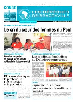 Les Dépêches de Brazzaville : Édition brazzaville du 17 octobre 2016