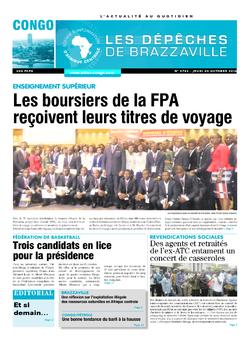 Les Dépêches de Brazzaville : Édition brazzaville du 20 octobre 2016