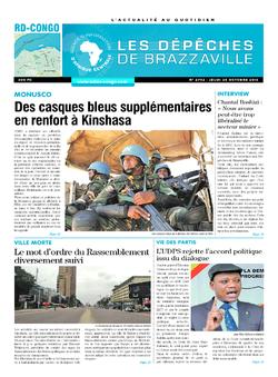 Les Dépêches de Brazzaville : Édition kinshasa du 20 octobre 2016