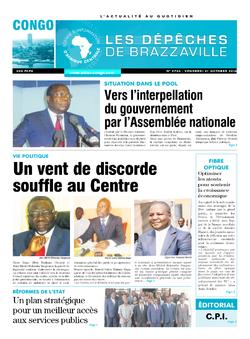 Les Dépêches de Brazzaville : Édition brazzaville du 21 octobre 2016