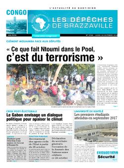 Les Dépêches de Brazzaville : Édition brazzaville du 24 octobre 2016