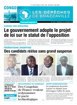 Les Dépêches de Brazzaville : Édition brazzaville du 26 octobre 2016