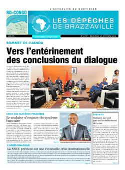Les Dépêches de Brazzaville : Édition kinshasa du 26 octobre 2016