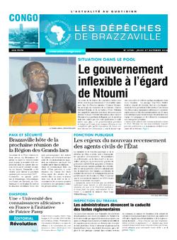 Les Dépêches de Brazzaville : Édition brazzaville du 27 octobre 2016