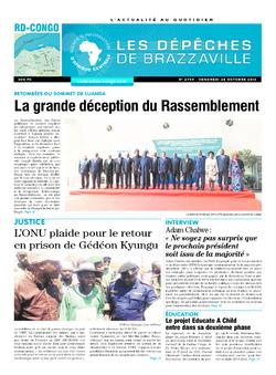 Les Dépêches de Brazzaville : Édition kinshasa du 28 octobre 2016