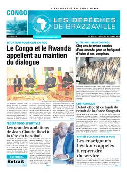Les Dépêches de Brazzaville : Édition brazzaville du 31 octobre 2016