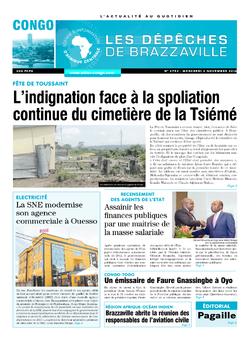 Les Dépêches de Brazzaville : Édition brazzaville du 02 novembre 2016