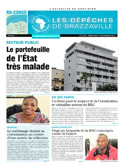 Les Dépêches de Brazzaville : Édition kinshasa du 02 novembre 2016