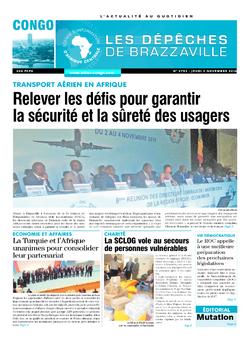 Les Dépêches de Brazzaville : Édition brazzaville du 03 novembre 2016