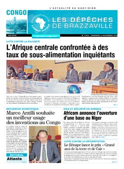 Les Dépêches de Brazzaville : Édition brazzaville du 04 novembre 2016