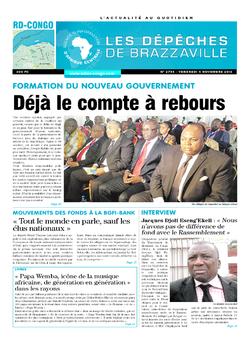Les Dépêches de Brazzaville : Édition kinshasa du 04 novembre 2016