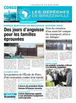 Les Dépêches de Brazzaville : Édition brazzaville du 07 novembre 2016