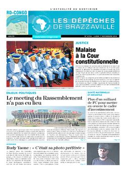 Les Dépêches de Brazzaville : Édition kinshasa du 07 novembre 2016