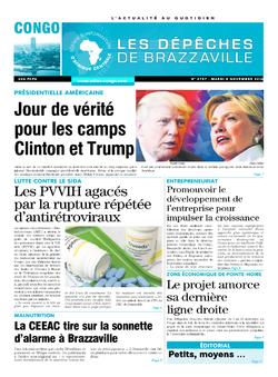 Les Dépêches de Brazzaville : Édition brazzaville du 08 novembre 2016
