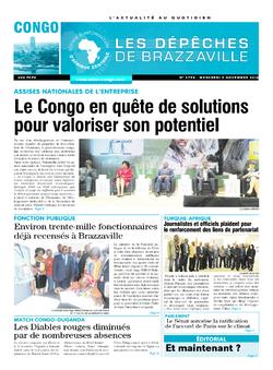 Les Dépêches de Brazzaville : Édition brazzaville du 09 novembre 2016