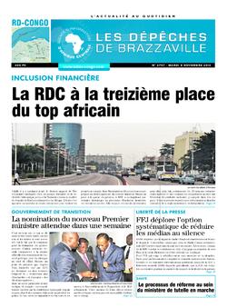 Les Dépêches de Brazzaville : Édition kinshasa du 09 novembre 2016