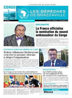 Les Dépêches de Brazzaville : Édition brazzaville du 11 novembre 2016