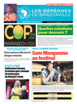 Les Dépêches de Brazzaville : Édition du 6e jour du 12 novembre 2016